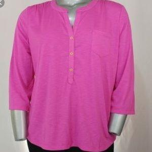 Hot pink Henley